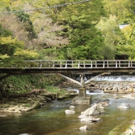 瑠璃光院へ向かう橋